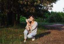 Фотосессия с собакой и щенками